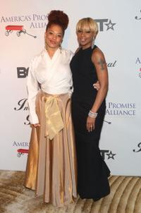 Terri McMillan and Mary J. Blige at the BET Inauguration Ball.