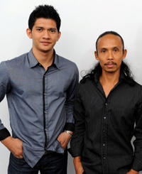 Iko Uwais and Yayan Ruhian at the photocall of