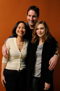 Directors Laura Lau, Chris Kentis and Elizabeth Olsen at the portrait session of