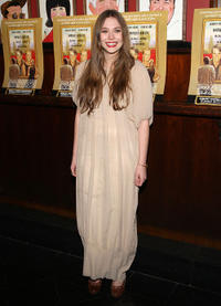 Elizabeth Olsen at the after party of the Broadway opening night of