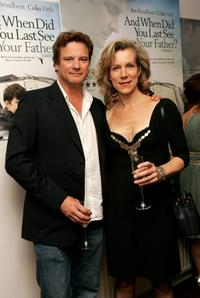 Colin Firth and Juliet Stevenson at the private screening of