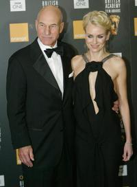 Patrick Stewart and Australian actress Naomi Watts at The British Academy Film Awards.