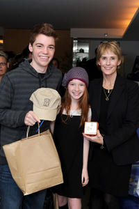 Gabriel Basso, Annalise Basso and Guest at the 2011 DPA Golden Globes Gift Suite in California.