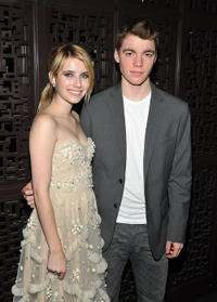 Emma Roberts and Gabriel Basso at the Cinema Society With Alice+Olivia Host A Screening Of