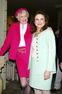 Elaine Stritch and Tovah Feldshuh at the American Theater Wing luncheon honoring Isabelle Stevenson.