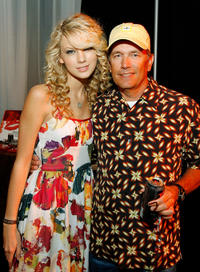 Taylor Swift and George Strait at the Distinctive Assets gift lounge during the Academy of Country Music Awards in Nevada.