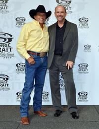 George Strait and Louie Messina at the Cowboy Rides Away 2012-2014 final tour.