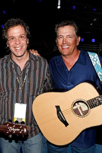 Producer Richard 'RAC' Clark and George Strait at the rehearsals of the 43rd Academy of Country Music Awards in Nevada.
