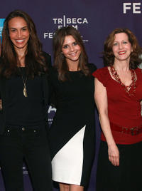 Nina Lisandrello, Alexandra Chando and Betsy Aidem at the premiere of