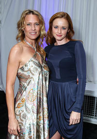 Robin Wright and Alexis Bledel at the after party of the premiere of