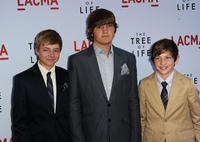 Laramie Eppler, Hunter McCracken and Tye Sheridan at the California premiere of