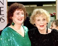 Sylvia Thompson and Gloria Stuart at the 55th Annual Golden Globe Awards.