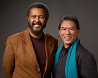 Kevin Willmott and Wes Studi at the 2009 Sundance Film Festival.