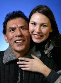 Wes Studi and Guest at the 2004 Sundance Film Festival.