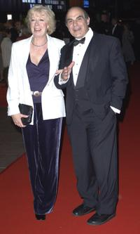 David Suchet and wife Sheila Ferris at The Times BFI London Film Festival.