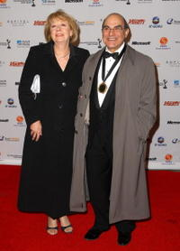 David Suchet and Guest at the 36th Annual International Emmy Awards.