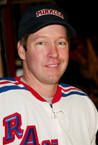 D.B. Sweeney participates in the SuperSkate VI charity hockey event benefiting the Rangers Cheering For Children and Christopher Reeve Paralysis Foundation charities.