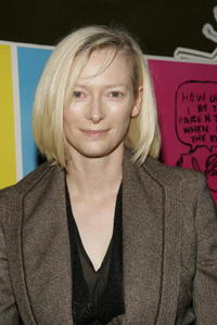 "Tilda Swinton at the premiere of ""Thumbsucker"" in New York City."