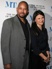 Michael Boatman and Tracey Ullman at the California premiere of