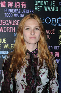 Josephine de la Baume at the DJ Set at L'Oreal Suite during the 65th Annual Cannes Film Festival in France.
