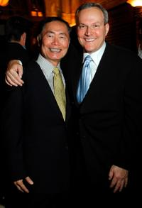 George Takei and Brad Altman at the Friars Club's