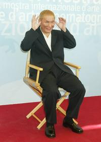 Beat Takeshi Kitano at the 60nd Venice Film Festival photocall.