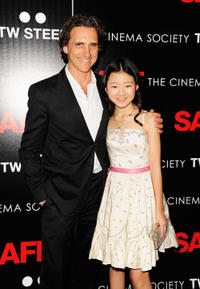 Producer Lawrence Bender and Catherine Chan at the New York premiere of