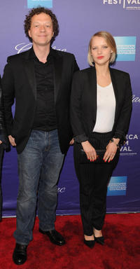 Frederic Boyer and Joanna Kulig at the premiere of