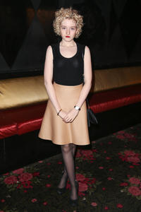 Julia Garner at the Philosophy By Natalie Ratabesi fall 2013 fashion show during the Mercedes-Benz Fashion Week in New York.