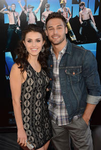 Kathryn McCormick and Ryan Guzman at the closing night gala premiere of
