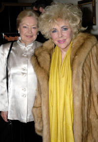 Dr. Mathilde Krim and Elizabeth Taylor at the private dinner in California.