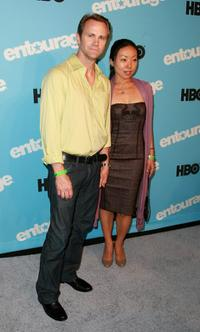 Lee Tergesen and Guest at the premiere of the fifth season of