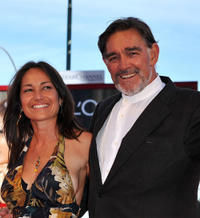 Fabio Testi and Guest at the premiere of