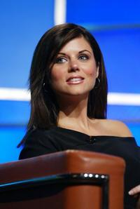 Tiffani-Amber Thiessen at the FOX 2002 SummerTCA Tour.