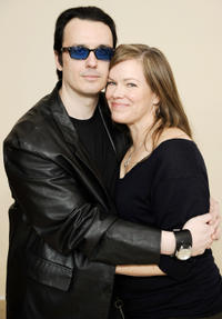Producer Damien Echols and Lorri Davis at the portrait session of
