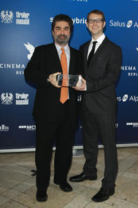 Director Joe Berlinger and Jason Baldwin at the Cinema for Peace Gala during the day five of the 62nd Berlin International Film Festival.