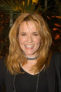 Lea Thompson at at Cicada restaurant for a party in Queen Latifah's honor.