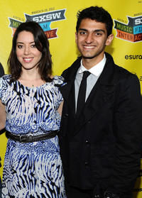 Aubrey Plaza and Karan Soni at the premiere of