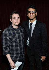 Writer Derek Connolly and Karan Soni at the premiere of