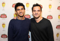 Karan Soni and Jake Johnson at the press conference of