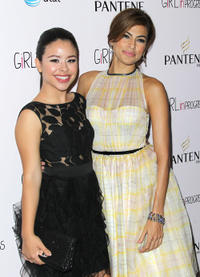 Cierra Ramirez and Eva Mendes at the California premiere of