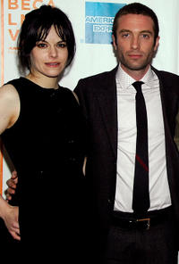 Emily Hampshire and Jacob Tierney at the New York premiere of