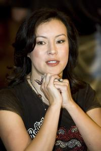 Jennifer Tilly at the Aussie Millions Celebrity Challenge in the poker room.