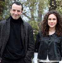 Bruno Todeschini and Mimosa Campironi at the photocall of