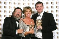 Ricky Tomlinson, Sue Johnston and Craig Cash at the British Academy Television Awards.