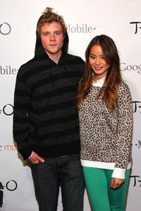 Jonny Weston and Jamie Chung at the T-Mobile Google Music during the 2012 Sundance Film Festival.