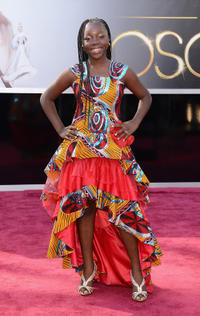 Rachel Mwanza at the 85th Annual Academy Awards in California.