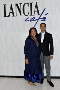 Director Mira Nair and Riz Ahmed at the Lancia Cafe Hosts
