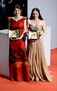 Cristina Flutur and Cosmina Stratan at the photocall of