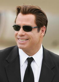 John Travolta at Brisbane International Airport.
